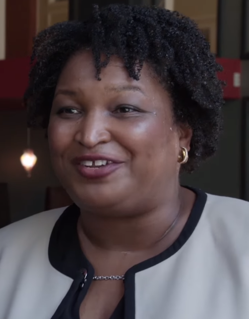 photo from her web page https://en.wikipedia.org/wiki/Stacey_Abrams