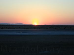 sunrise at Mojave Airport